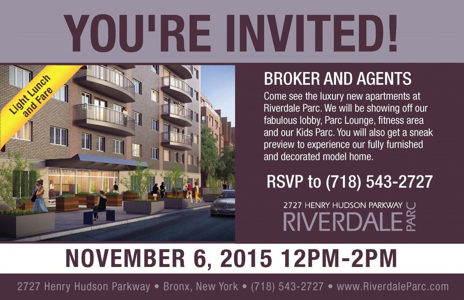 1 Bedroom Apartments In The Bronx You Re Invited Brokers And Agents Riverdaleparc